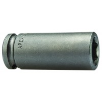 """3/8"""" Drive - Metric - Magnetic, 6 Point & Double Hex Long & Extra Long Length - Apex"""