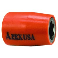 "1/4"" SQ u-Guard Sockets, Metric - Magnetic - Apex"
